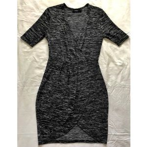 Heather Gray Wrap Front Apt.9 Dress (NEVER WORN)